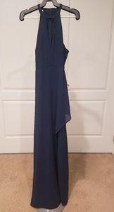 Lulus long navy dress size small